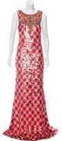 Badgley Mischka Embellished Sequined Dress w/ Tags