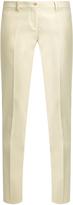Etro Mid-rise slim-leg cotton-blend trousers