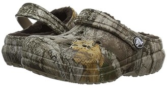 Crocs Classic Realtree Edge Lined Clog (Toddler/Little Kid) (Khaki) Kids Shoes