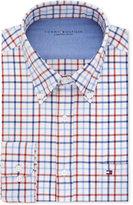 Tommy Hilfiger Men's Slim-Fit Comfort Wash Check Dress Shirt