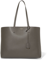 Saint Laurent Shopper Large Textured-leather Tote - Anthracite