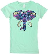 Micro Me Mint Geo Elephant Fitted Tee - Infant Toddler & Girls