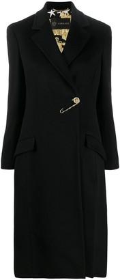 Versace Safety Pin Long Coat