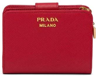Prada Saffiano snap wallet