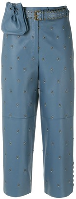 Nk Leather Culotte Trousers