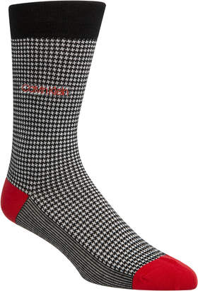 Calvin Klein Men Houndstooth Crew Socks
