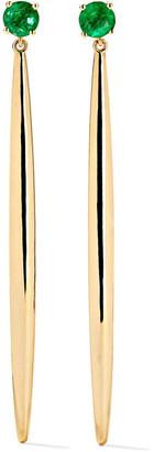 Ileana Makri Grass 18-karat Gold Emerald Earrings - one size