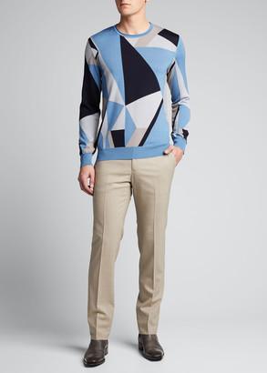 Giorgio Armani Men's Geometric Intarsia Sweater