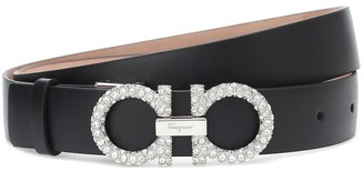 Salvatore Ferragamo Gancini embellished leather belt