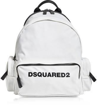 DSQUARED2 Signature White Nylon Backpack