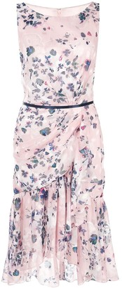Marchesa floral print dress