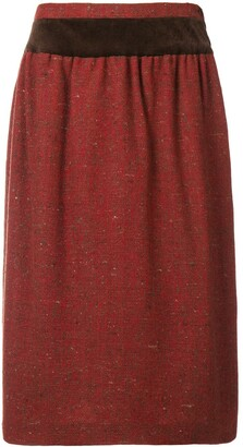 Valentino Pre-Owned 1980's Gathered Straight Skirt