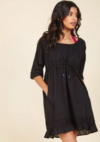From Swimming to Snacking Cover-Up Dress in Black in S