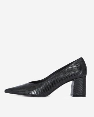 The Kooples Black leather heeled shoes