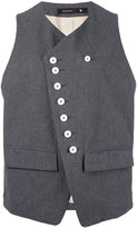 Klasica - button detail waistcoat - women - Cotton - 1