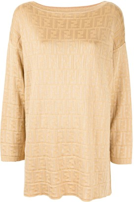 Fendi Pre Owned Zucca round neck top