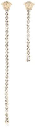 Versace Asymmetrical Crystal Pendant Earrings