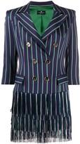 Elisabetta Franchi striped mini dress
