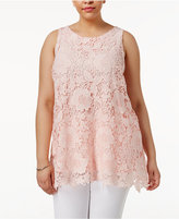 Alfani Plus Size Lace Tunic, Only at Macy's