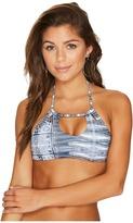 Roxy Strappy Love Printed Crop Bikini Top Women's Swimwear