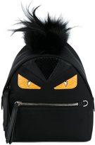 Fendi mini Bag Bugs backpack - women - Fox Fur/Leather/Nylon - One Size
