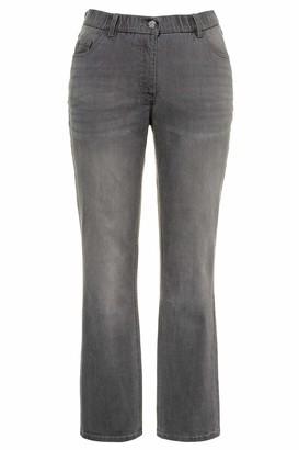 Ulla Popken Women's Jeans Marie Bootcut Komfortbund 5-Pocket
