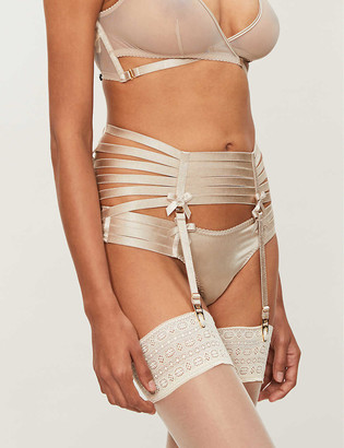 Bordelle Webbed satin suspender belt