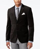 Alfani Men's Slim-Fit Geo Velvet Black Sport Coat, Only at Macy's