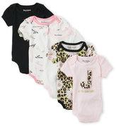 Juicy Couture Newborn/Infant Girls) 5-Pack Animal Logo Bodysuits
