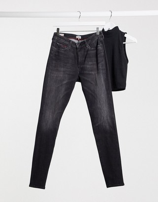 Tommy Jeans Sylvia high rise skinny jeans in black