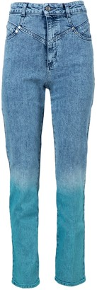 Stella McCartney High-waisted Ombre Acid Wash Jeans