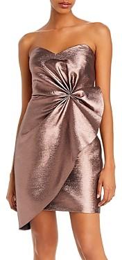 Aidan Mattox Strapless Metallic Mini Dress