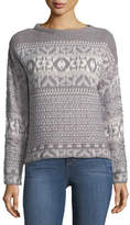 John & Jenn Jacquard-Knit Boat-Neck Sweater
