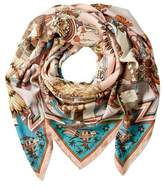 "Hermes kachinas"""" By Kermit Oliver Cashmere & Silk-blend Scarf."