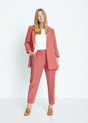 MANGO Violeta BY Straight suit pants pink - S - Plus sizes