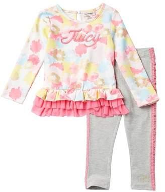 Juicy Couture Long Sleeve Tunic & Leggings 2-Piece Set (Toddler Girls)