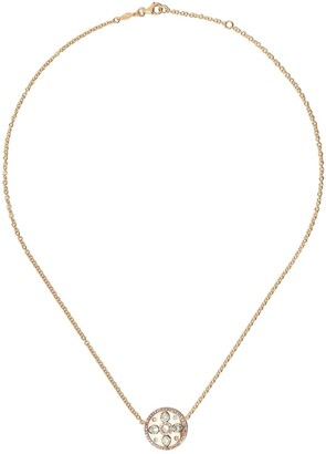 Kiki McDonough 18kt yellow gold Jemima green amethyst and diamond detail necklace