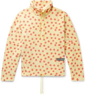 Martine Rose Bongo Batwing Oversized Printed Fleece Sweatshirt