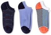 Merona Women's Low-Cut Socks 3-Pack Double Stripe Deep Periwinkle/Xavier Navy One Size