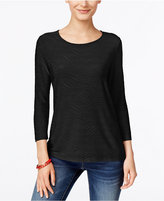 JM Collection Jacquard Top, Only at Macy's