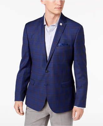 Nick Graham Men Slim-Fit Stretch Blue Windowpane Sport Coat, Online Only