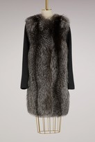 Yves Salomon Fur and cashmere long coat