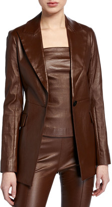 Rosetta Getty Leather Peak Lapel Jacket