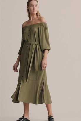 Witchery Off Shoulder Tie Dress