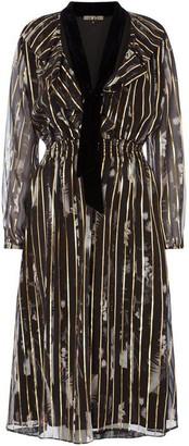 Biba Floral Gold Foil Dress