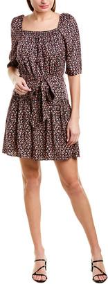 Rebecca Taylor Francesca Silk-Blend A-Line Dress