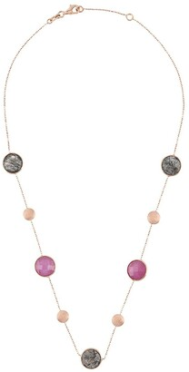 Tateossian 14kt rose gold round Kensington necklace