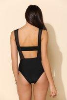 UO Lisa Maree X Cutout Mesh One-Piece Swimsuit