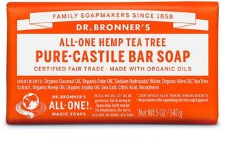 Dr. Bronner's All-One Hemp Tea Tree Pure-Castile Bar Soap 140G