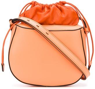 Pouch Top Leather Shoulder Bag